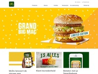 McDonalds Belgium - homepage concept ui banner design sketch belgium webdesign