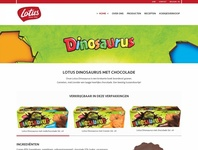 Lotus bakery - webpage concept - Dinosaurus koeken food belgium webdesign ui sketch