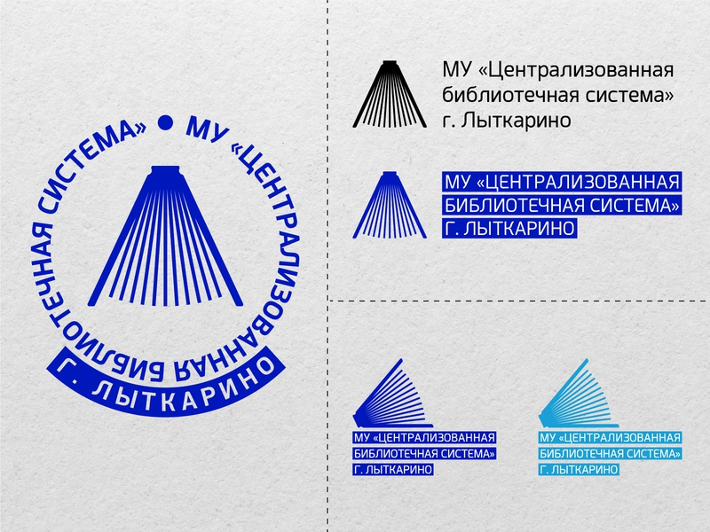 Logotype for city library in Russia concept book library logo typography branding