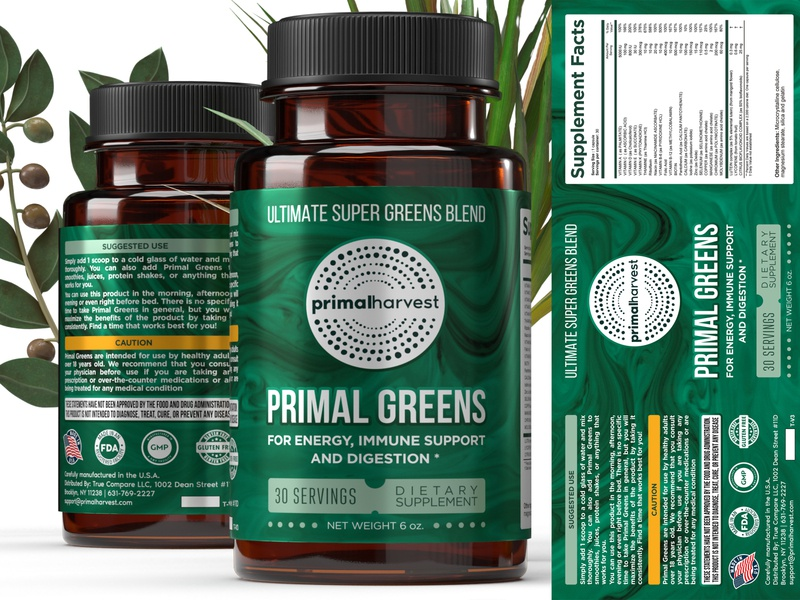 Package/label design for dietary supplement branding design typography label bottle package