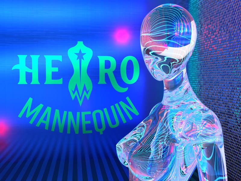 Branding for hero branding hero fashion identity logo design logo gradient purple logo dimension 3d visualization typography