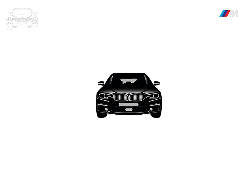 BMW M3 Illustration Design Black automobile auto car black drawing design illustration series m3 bmw