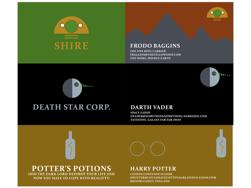 Spoof Business Cards