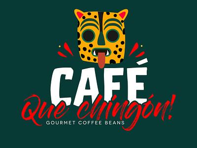 Cafe Que chingon / Mexican Logo Design mexico mexican logo design graphic design illustrator illustration