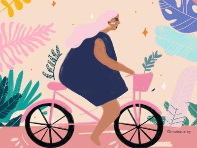 Cool girl on a Bike