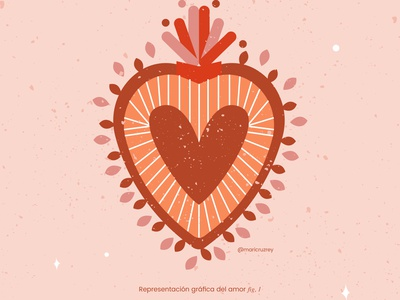 heart 02 love mexico heart graphic design procreate design doodle illustrator colorfull illustration
