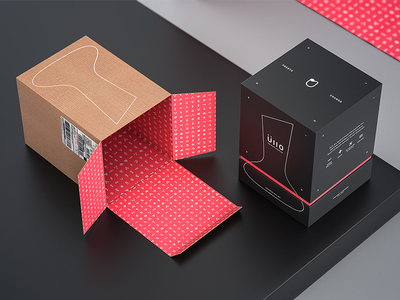 Ullo Shipping Package cinema 4d c4d render pattern top box package packaging wine ullo