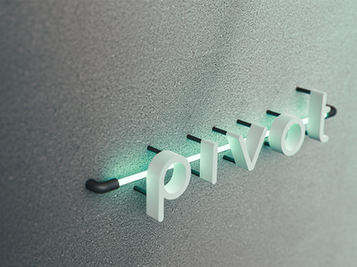 Pivot Neon sign cinema4d c4d render signage logo pivot neon