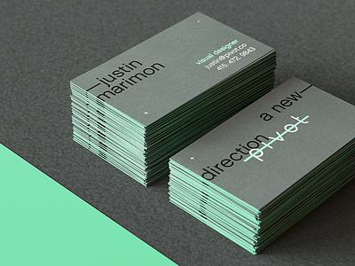 Pivot Business Cards mockup stack card business card logo branding pivot