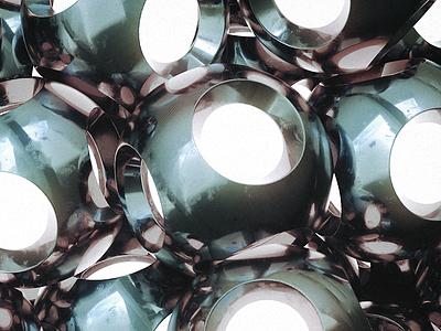 Shrink Wrap Holes balls spheres glow physical cinema 4d c4d cg 3d render