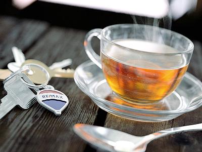 RE/MAX Tea Cup keys steam tea remax arnold c4d cinema 4d 3d render