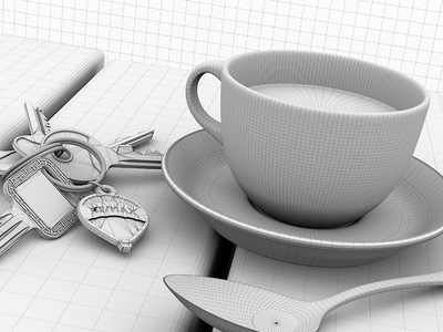RE/MAX Tea Cup Wireframe teacup remax cg render arnold c4d wireframe 3d