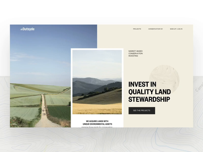 Marketing site concept blue ux ui environment photography branding minimal