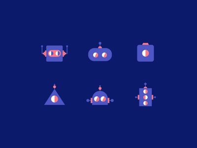 Robots textile print society6 iconography icon identity pattern background robots bots illustrator illustration