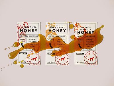 One Gun Ranch coffee chocolate honey packaging branding identity design