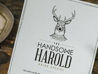The Handsome Harold Drink Menu