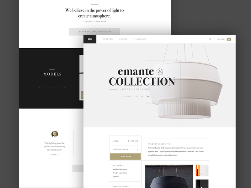 GWA Marketplace Concept ui web layout clean flat store quotes typography