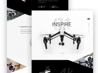 Inspire 1 Drone Marketing Site