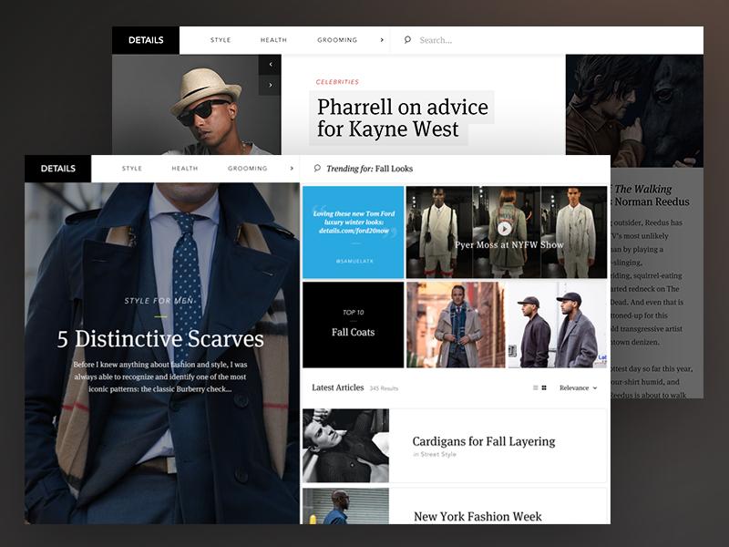 Details Magazine Concept interaction layout magazine ux ui