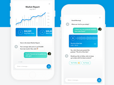 Exploring Artificial Intelligence message ai bot chat clean graph ios