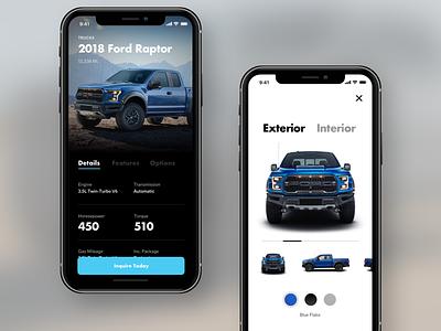 Automotive Design Exploration gallery automotive cars ios mobile ux ui