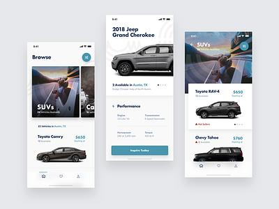 Automotive Design Exploration filters gallery automotive cars ios mobile ux ui