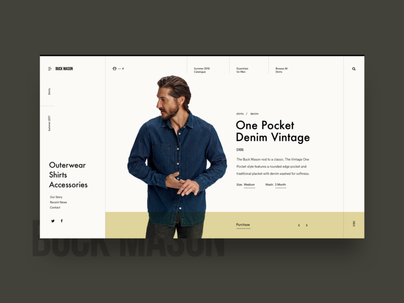 Shopping Detail Minimal Layout ecommence shop minimal grid layout web ui