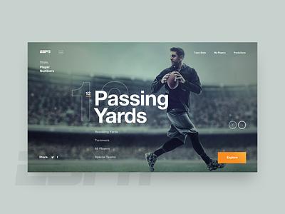 Fantasy Concept football clean design layout ui