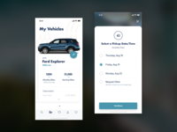 Automotive Subscription clean mockup interaction layout ios ui cars cards