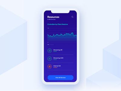 Resources Overview clean grid mockup data graph layout ios ui