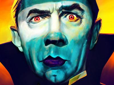 Bela Lugosi bela lugosi dracula caricature digital painting photoshop illustration vampires humor basil gogos horror horror art
