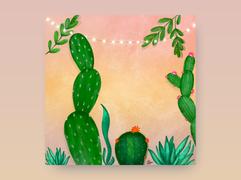 Summer Cactus Illustration