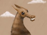 Smiling Horse character horse procreate illustration animal equine