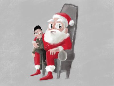 Santa photocall character illustration christmas navidad papa noel santa claus