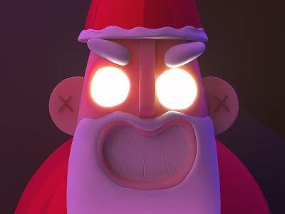 Bad Santa 3d character christmas claus santa santaclaus