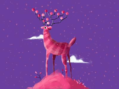 Reindeer christmas animal christmas card happy reindeer christmas