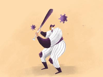 Baseball Virus hit virus coronavirus bat baseball
