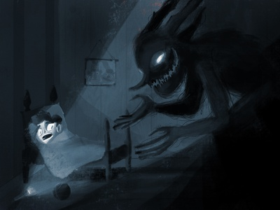 Kids' Nightmares terror nightmare character design cartoon character dream monster illustration kid
