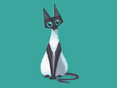 Cute cat cat illustration cartoon animals character design inktober animal character