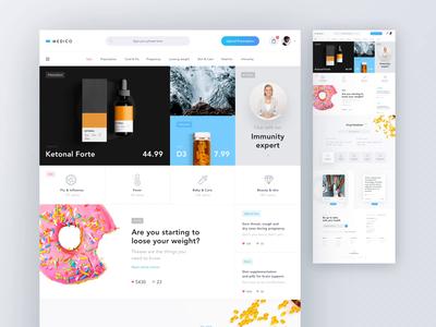 Medico – Online Drug Store pharmaceutical healthcare health blue website med online shop shop online store pharmacy drugstore medical medicine