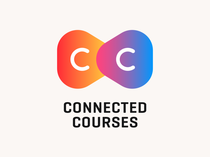 Connected Courses logo rounded triangles corporate branding play education branding