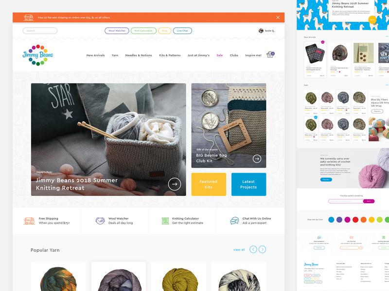 Jimmy Beans Website Design