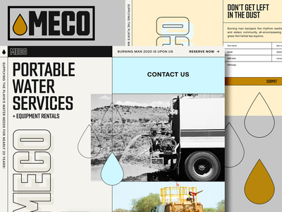 MECO Website Design grid heavy equipment construction industrial industry graphic design layout typography web design