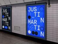 Justin Martin @1up Poster