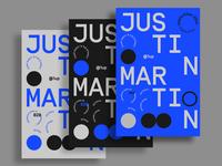 Justin Martin Poster Design