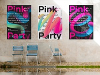 Pink Party Posters