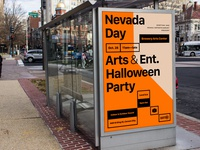 Nevada Day Art & Ent. Halloween Party Poster