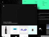 Single Page Site Design for Spheric.Agency