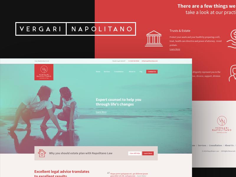 Attorney Identity & Web Design lawyer attorney homepage ui identity web design