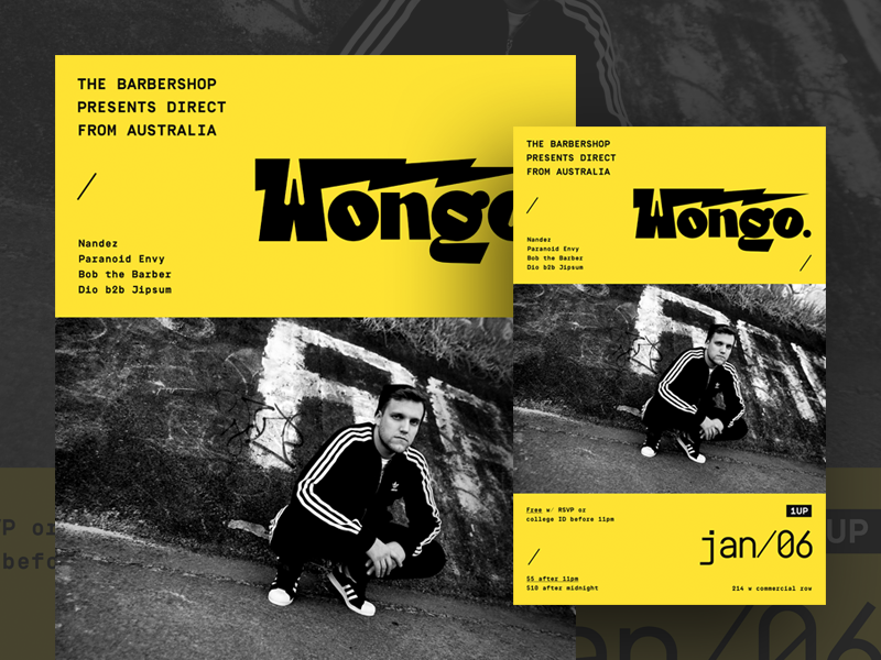Wongo Poster / Flyer Design poster flyer typography layout graphic design